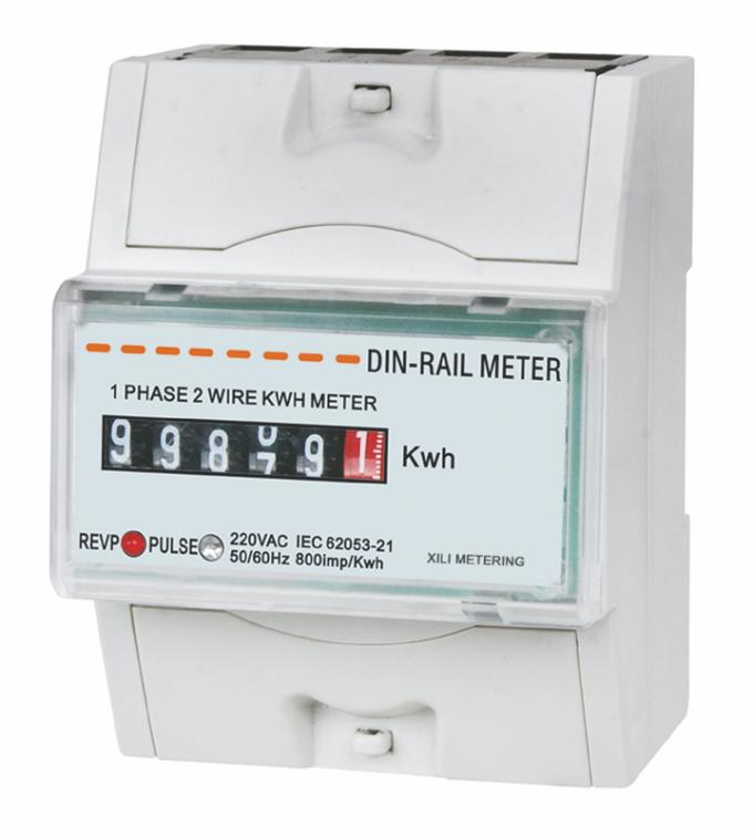Single Phase electromechanical din rail KWH meter direct connected for household