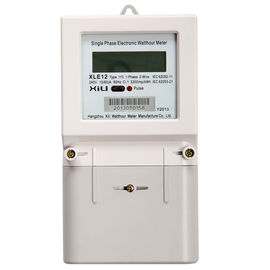 China Home Single Phase electricity meters with LCD Display , Class A or B  High Precision supplier