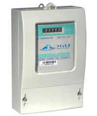 China Smart Three Phase Energy Meter with Single Rate Drum Register , 4 Wire supplier