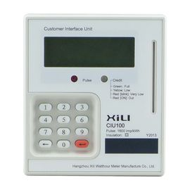 Electronic digital kwh meter / prepaid electric meter with PLC interface