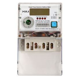 Multifunction Credit electric energy meter / Polycarbonate kilowatt hour meter AC 230 Volt