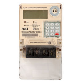 China Single Phase Two Wire Prepayment Power Energy Meter / KWH Meters with Integrated Keypad supplier