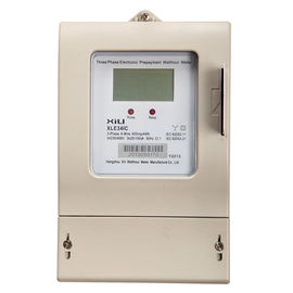 China Integrated IC Card Three Phase Energy Meter / Digital Prepayment KWH Meters supplier