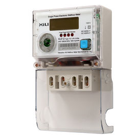 China Wall Mounted Multifunction Energy Meter with Single phase 2 wire supplier