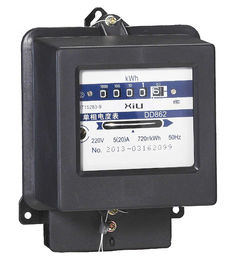Black or Customized Electromechanical Energy Meter Panel Mounted for Home