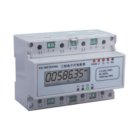 Three Phase modular energy meter , Din Rail KWH Meter with 4 wire