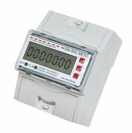 China Tamper Proof Single Phase DIN Rail Type Energy Meter / KWH Meters for Residential application supplier