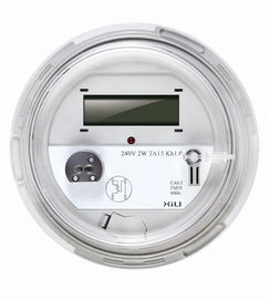 1 Phase 3 Wire Round Socket Energy Meter , smart electric power meters