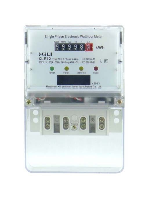 Iec Electronic Static Single Phase Energy Meter Safety