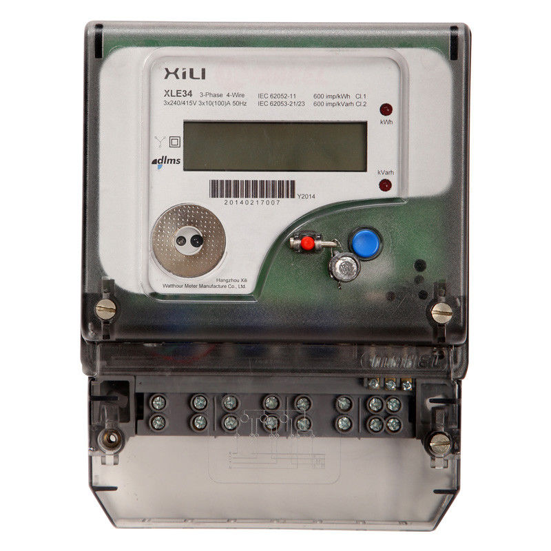 Polyphase Residential Three Phase Energy Meter Four Wire 3 x 230V ...