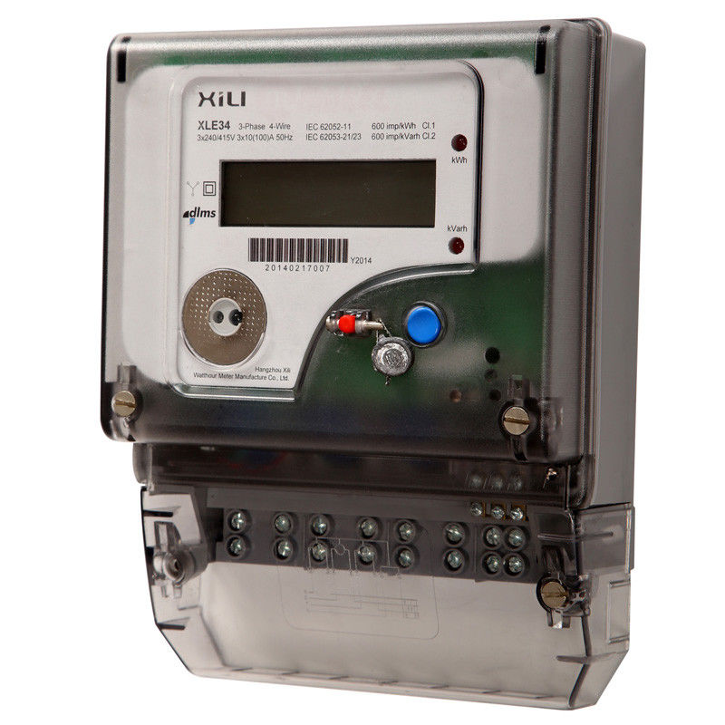 Three Phase Electronic Energy Meter for Household , 3 ...