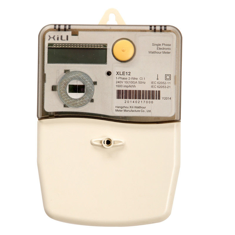 Load Profile Single Phase Energy Meter Kwh Meters For