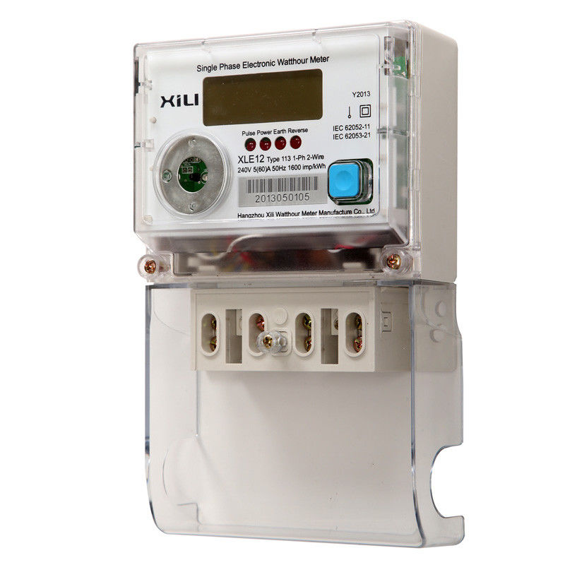 Reliable Power Meters : Single phase two wires multirate watt hour meter for
