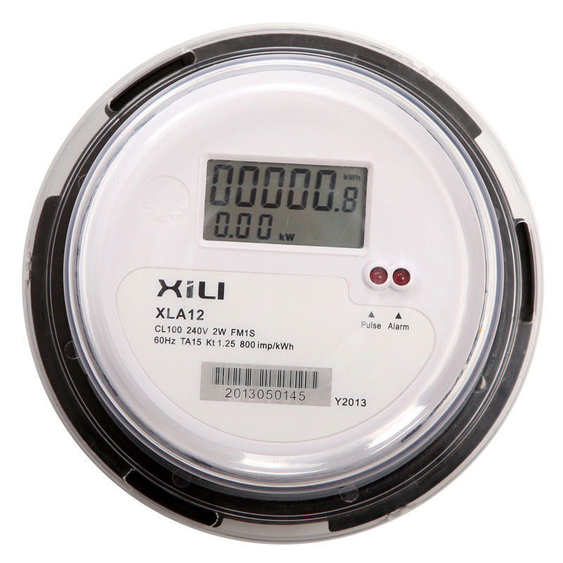 Kilowatt Hour Meter : Ansi round socket type single phase kwh meter electronic