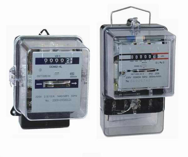 Single Phase Meters And 3 : Ac v electromechanical energy meter single phase