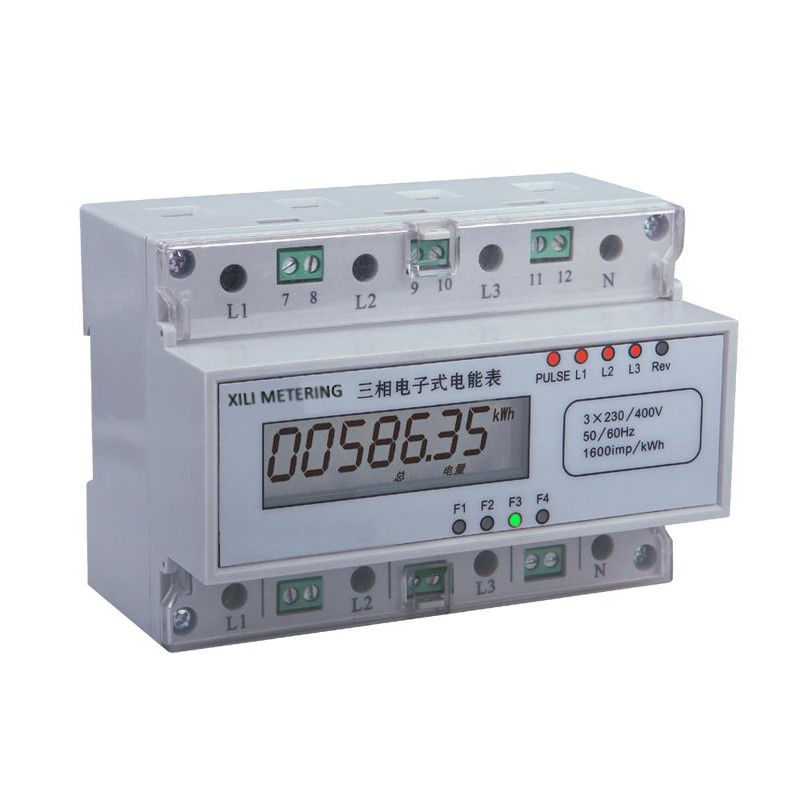 Single Phase Meters And 3 : Three phase modular energy meter din rail kwh with