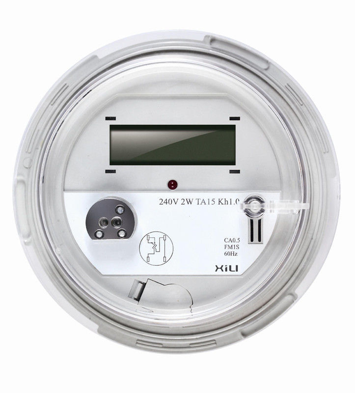 Electrical Phase Meter : Phase wire round socket energy meter smart electric