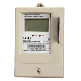 IP54 Smart IC card Prepaid energy meters 1 phase two wire 118mm×110mm×61mm